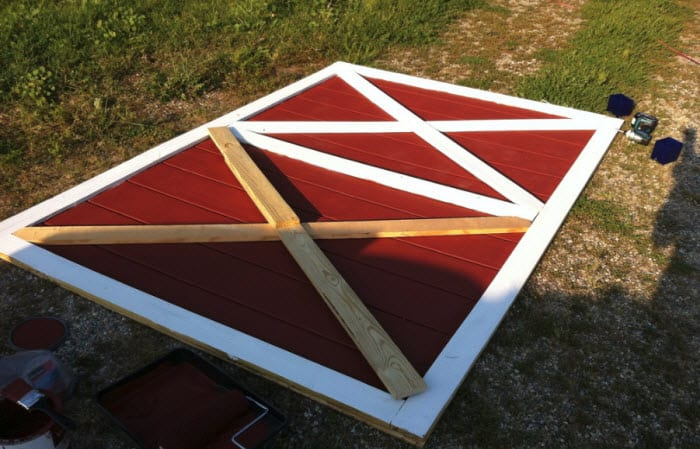 Building a Barn Door For an Actual Barn