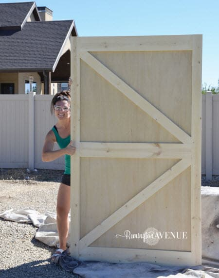 DIY british brace barn door