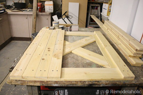 DIY dutch barn door