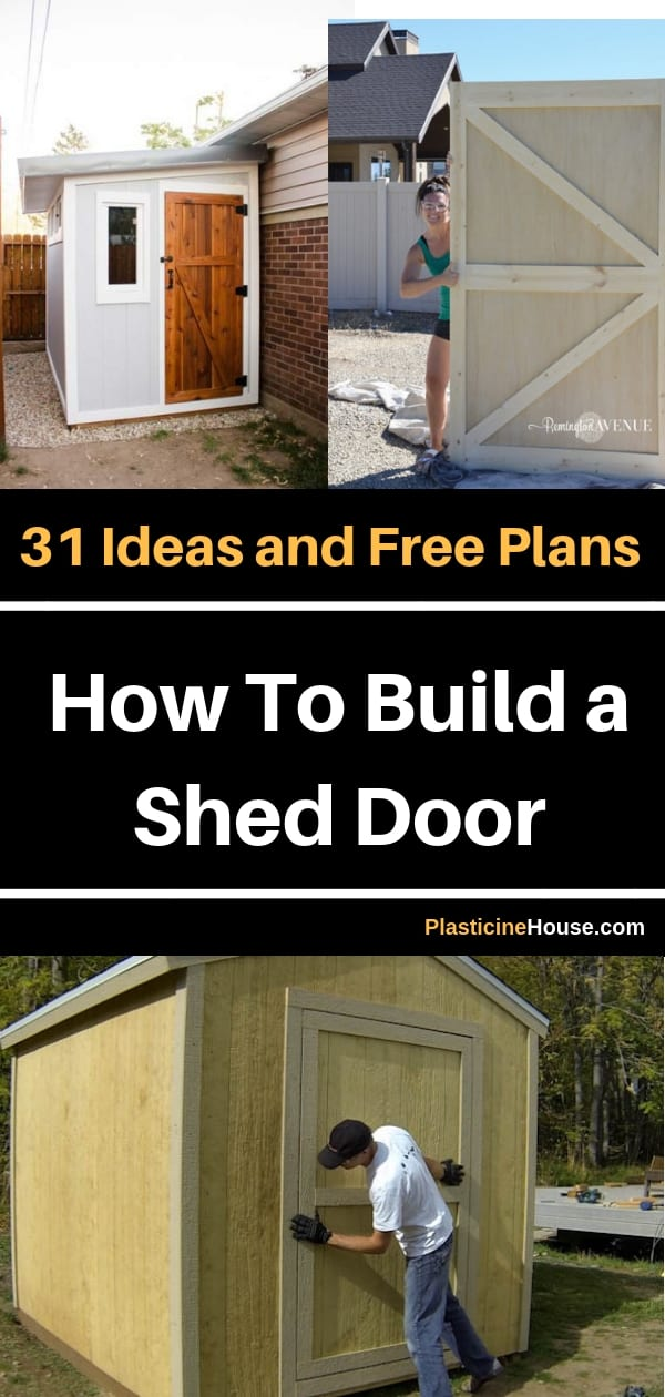 Find 31 Ideas and Free Plans on how to build beautiful door for your shed. Most plans include step by step instructions.