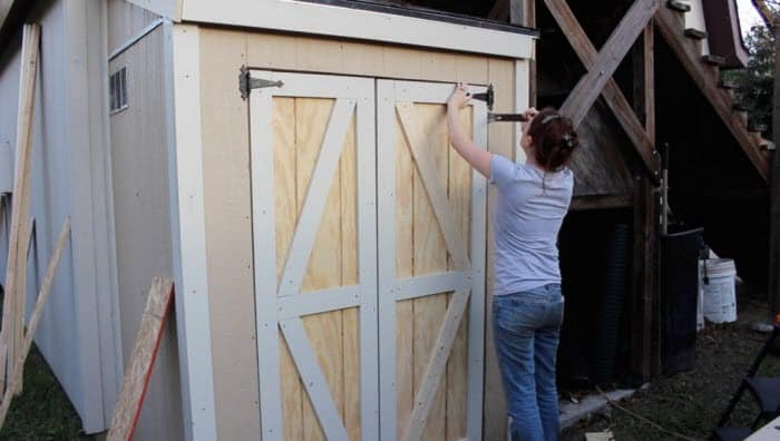 Making Double Doors for a Shed