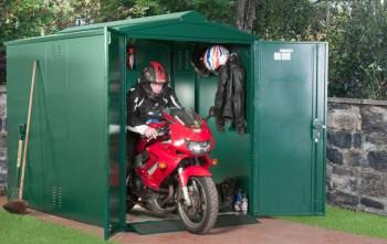 Metal motorbike garage