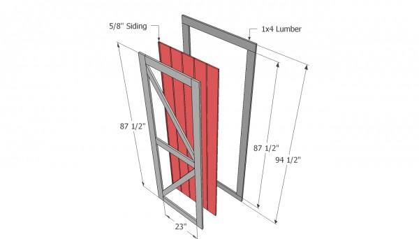 door shed plans
