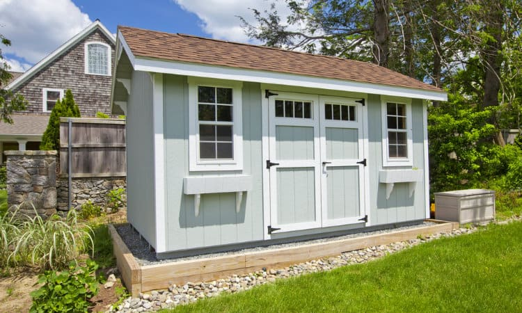 how to put foundation under existing shed