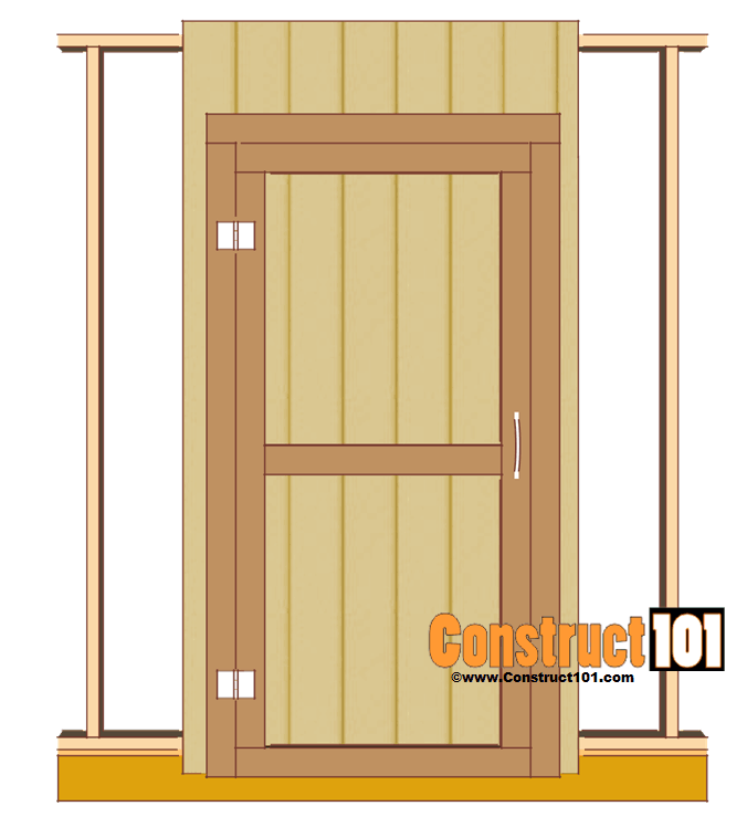 shed door plans hinges