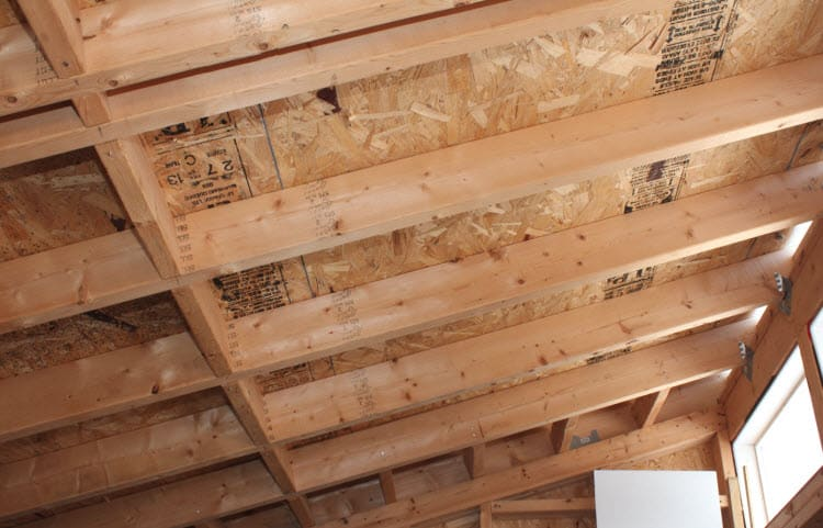 shed roof rafters