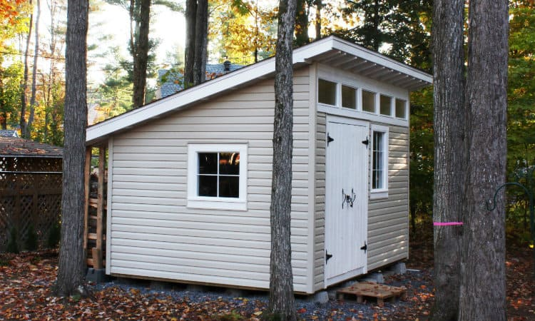 How to build a mono-pitched roof shed