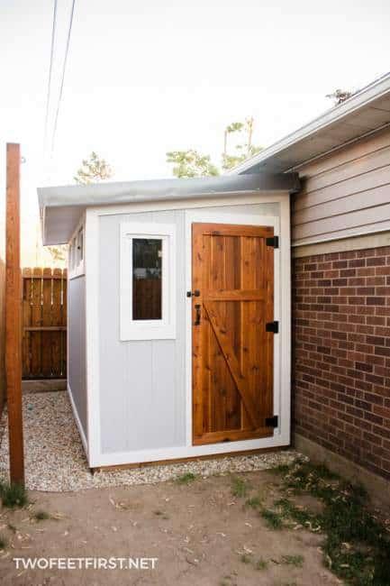 simple cedar door