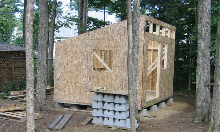 installing OSB sheathing