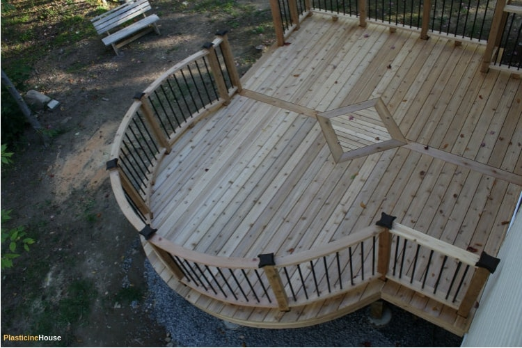 Curved deck from top