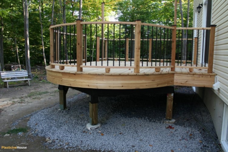 Deck from side