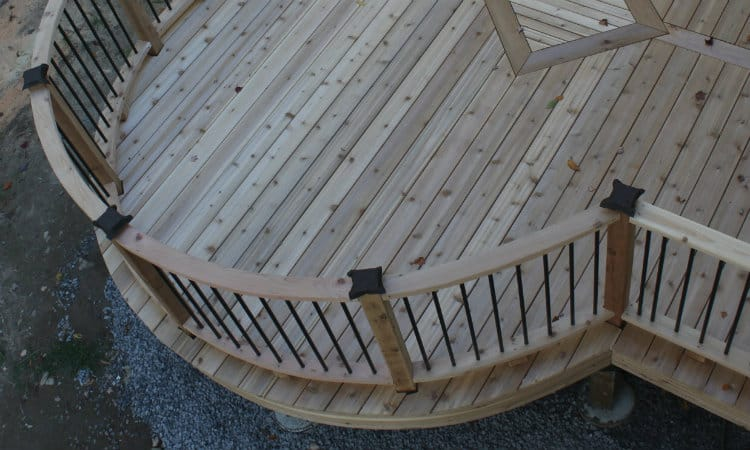 Curved hand rails