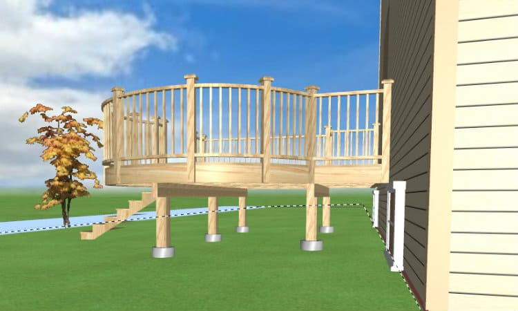 Deck foundation design