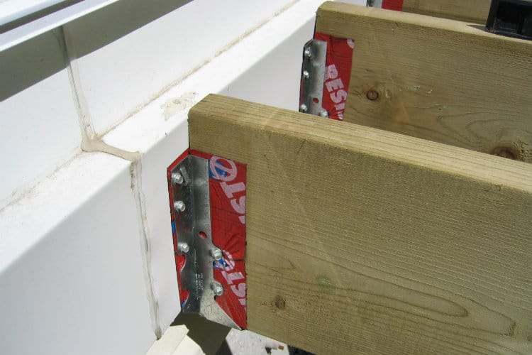 Hangers attached to ledger board