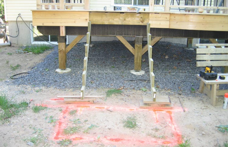 Planning deck stairs