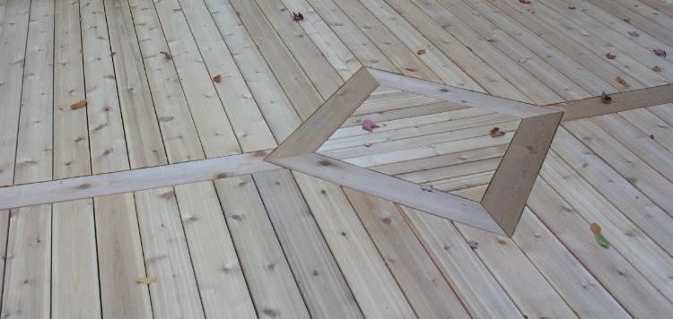 Installed deck boards