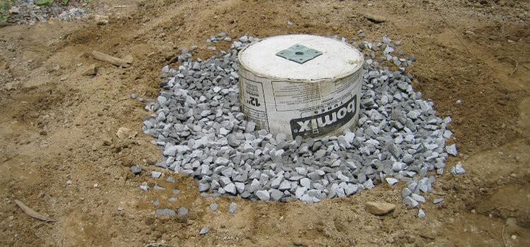 Cured concrete pier
