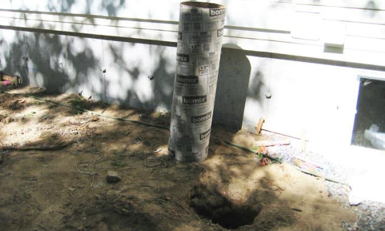 Cut Concrete Pour Tubes