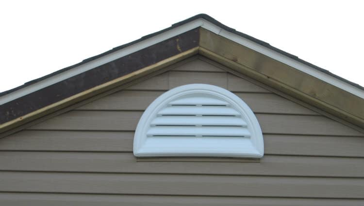 gable louvered vent