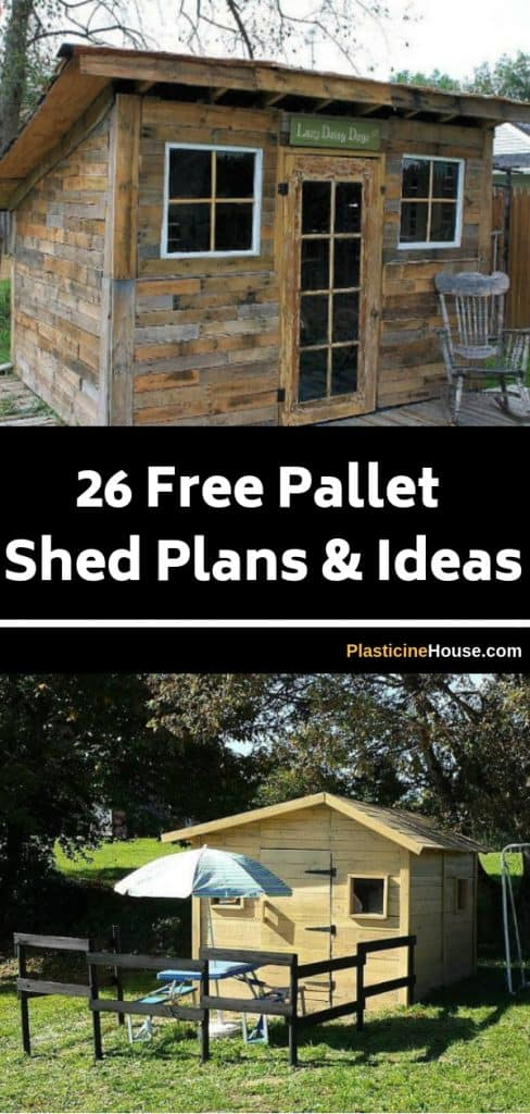 26 Free Pallet Shed Barn Cabin And Building Plans Ideas