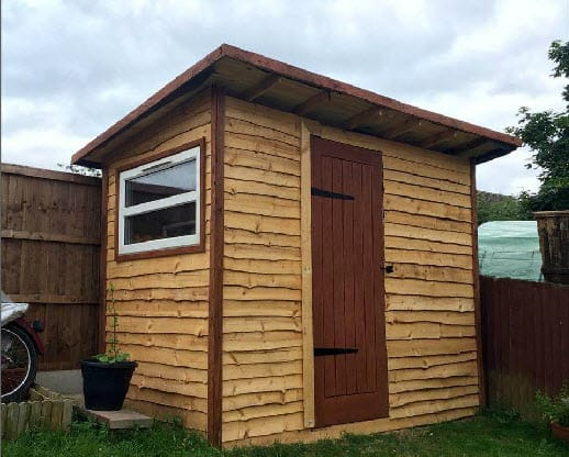 1 A Rustic Lean To Pallet Shed
