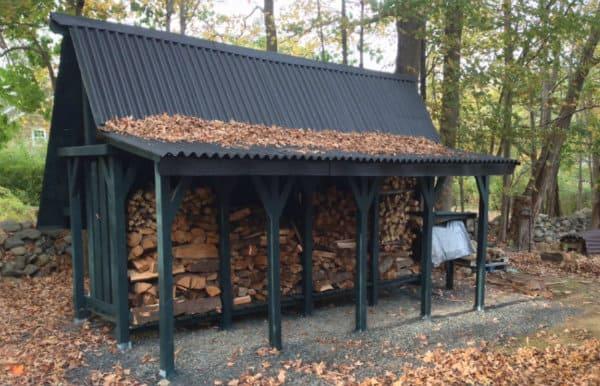 Large Firewood Shed. Awesome Firewood Storage Shed