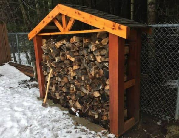 Backyard Firewood Holder