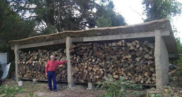 Cob Wood Shed