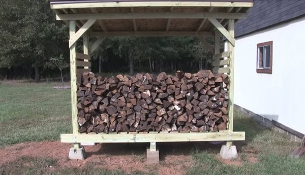 DIY Firewood Shed Project