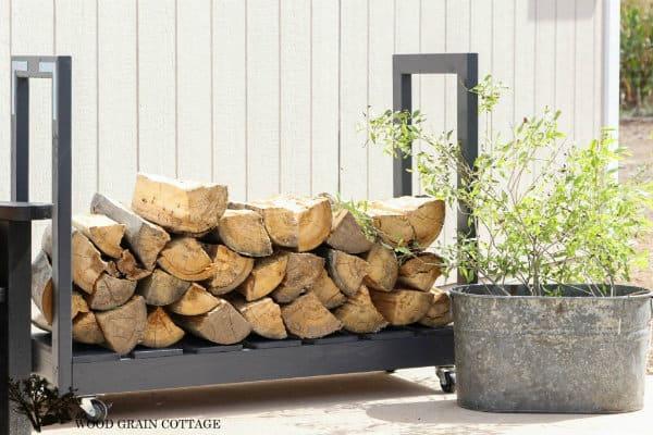 DIY Rolling Firewood Cart