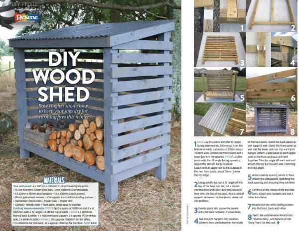 DIY wood shed