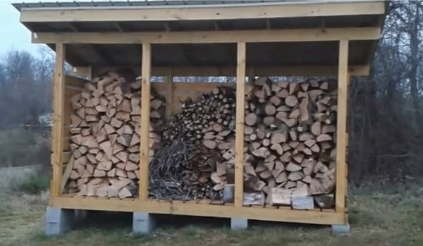 Firewood Storage Shed Build