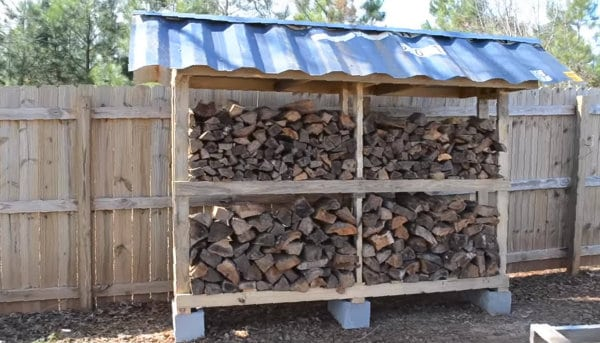 Firewood Storage from Pallets