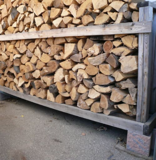 How to build a cheap firewood storage rack