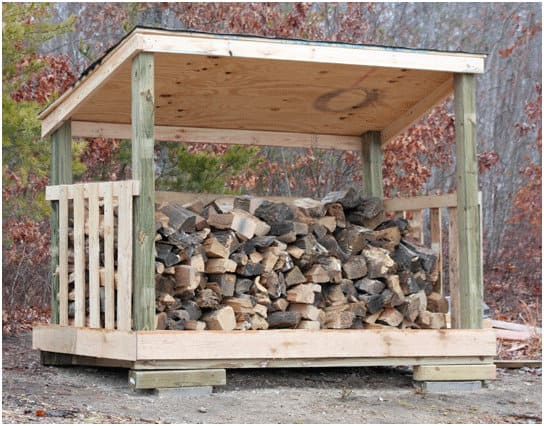Low-Cost Firewood Shed