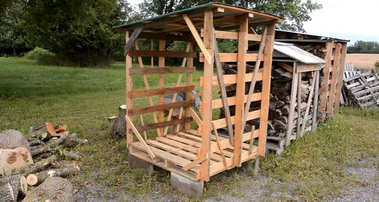 Movable firewood shed build
