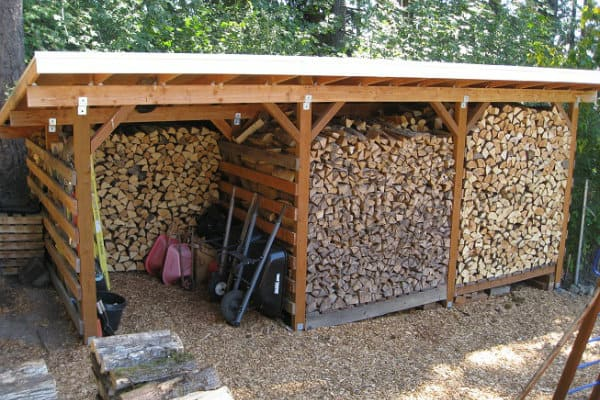 Sectional Firewood Storage Shed
