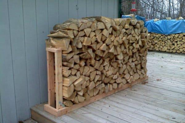 42 Simple Diy Firewood Rack Plans, Outdoor Log Rack