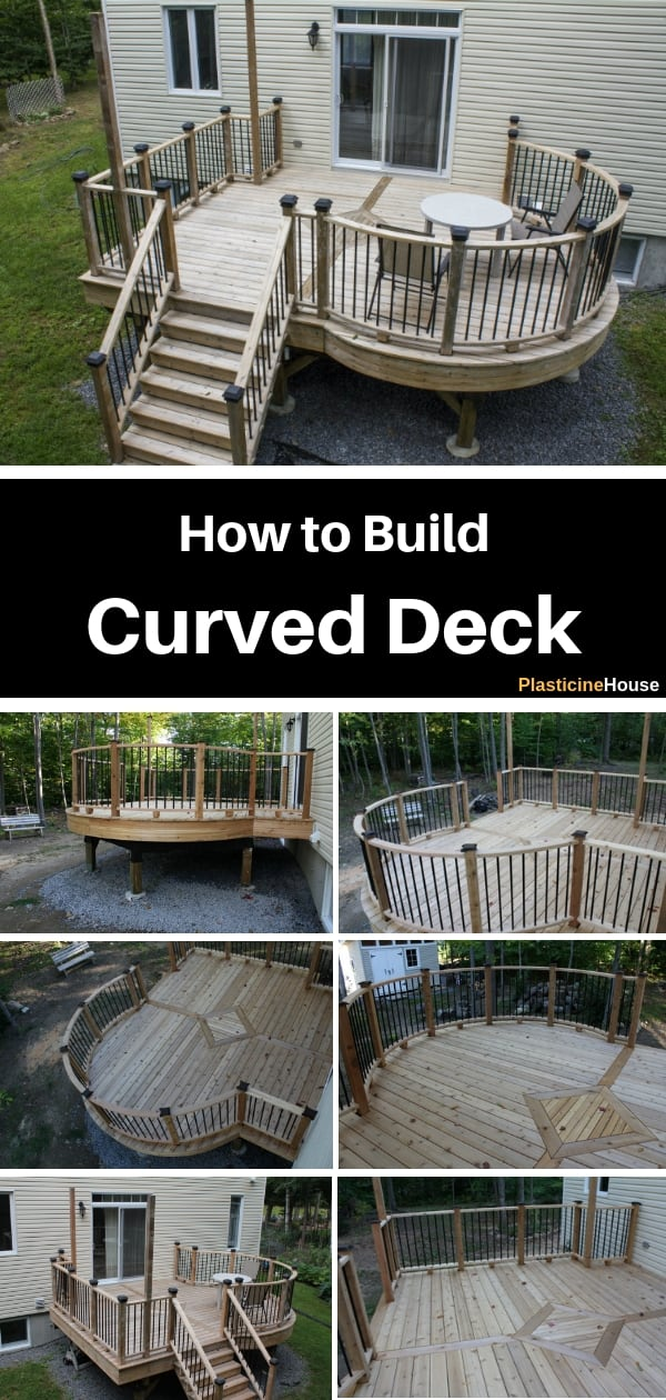Want to build a beautiful cedar curved deck? This DIY tutorial with detailed step by step instructions will show you how to build a curved or round deck.