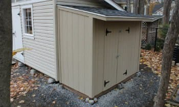 How to build lean to storage shed