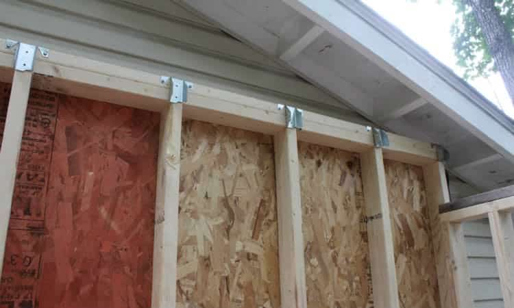 Installing Ridge Rafter Connectors