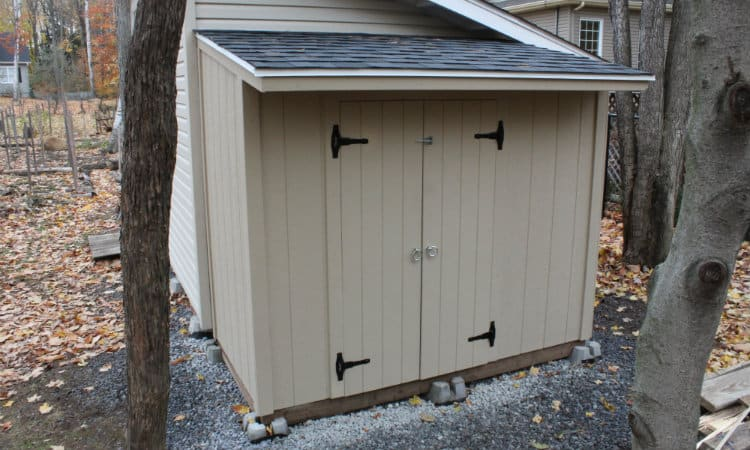 Shed door installed