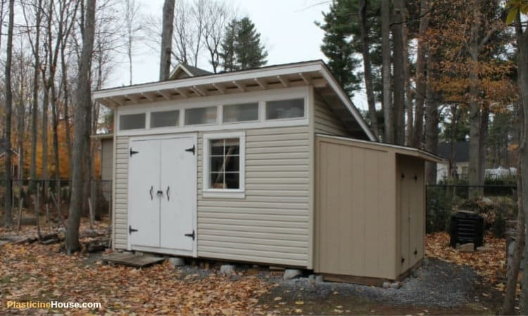 diy lean to storage shed