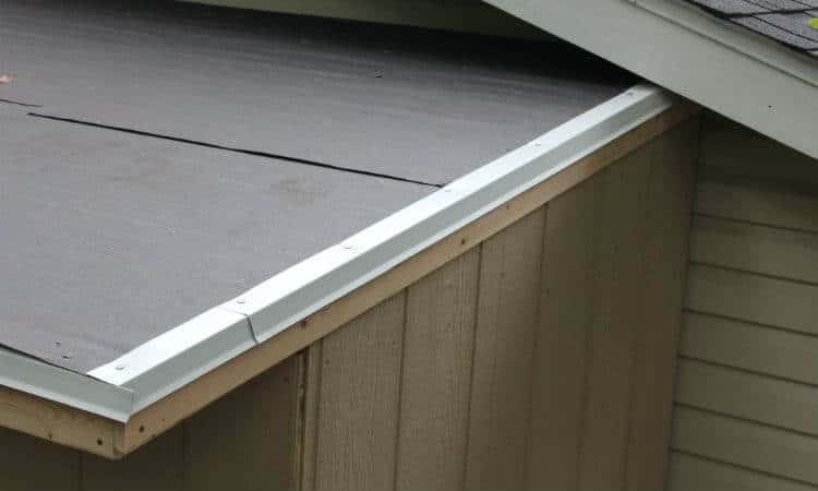 drip edge on right side