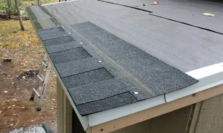 installing first shingle