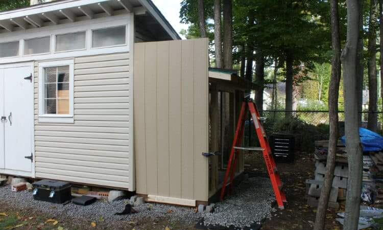 installing first siding panel