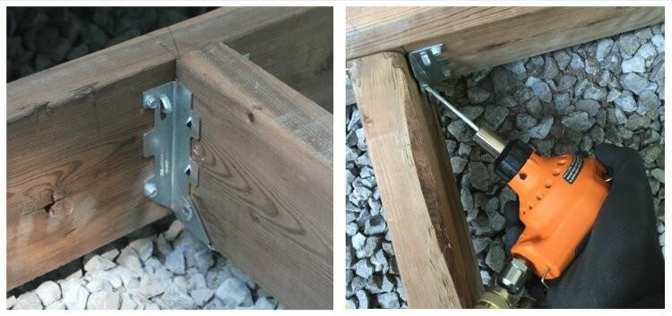 installing joist hangers with nail gun