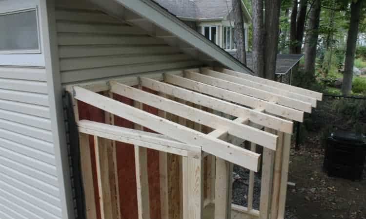 how to build a lean to roof