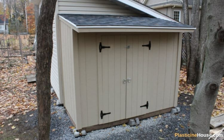 lean-to garden tool shed