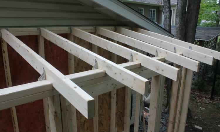 lean to shed roof framing